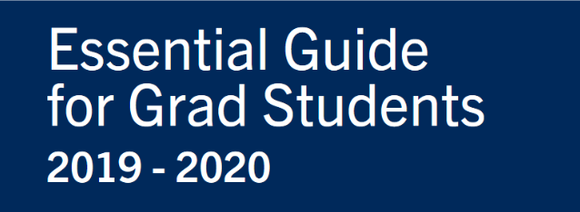 Cover Essential Guide for Grad Students 2019-20
